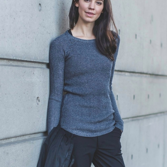 Lululemon Cabin Yogi long sleeve sweater Inkwell 6